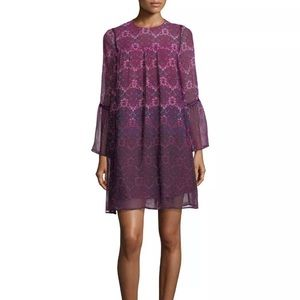 {Nanette Lepore} Floral Ombré Dress Pink Purple